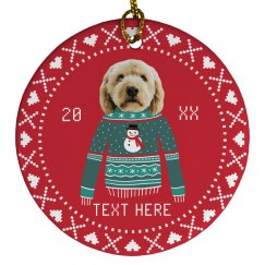 Funny Pet Photo Xmas Ornament