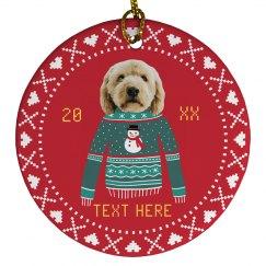 Funny Pet Photo Xmas Ornament