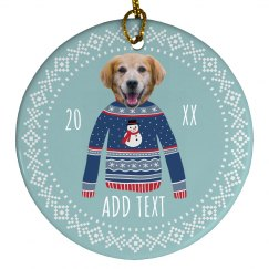 Custom Photo Funny Holiday Ornament
