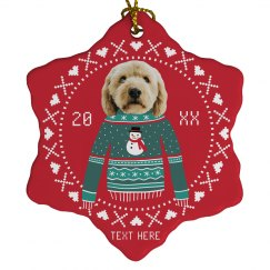 Upload Your Pet Christmas Ornament