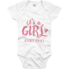 It's A Girl Custom Onesie