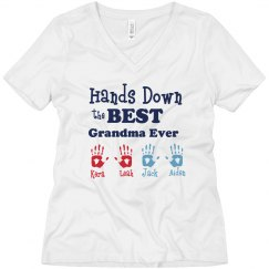 Peronalized Names Grandma Tee