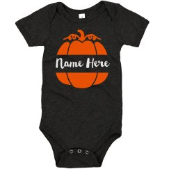 Little Pumpkin Custom Halloween Baby Bodysuit