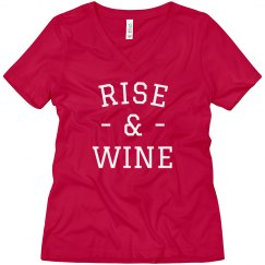 Rise & Wine Comfy Boyfriend Tee