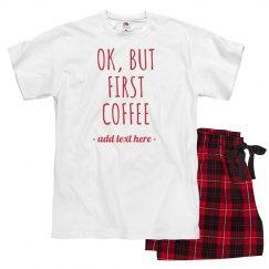 Custom Text Coffee Before Xmas Presents