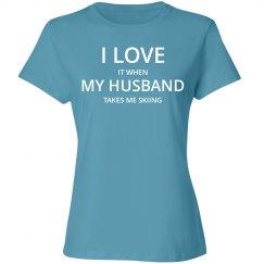 Love husband love skiing