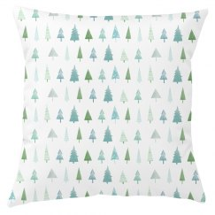 Winter Trees Holiday Throw Cover