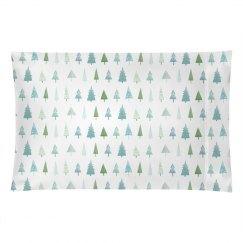 Winter Christmas Tree Pillowcase