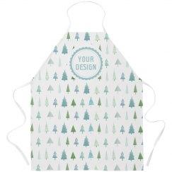Custom Text Holiday Winter Trees