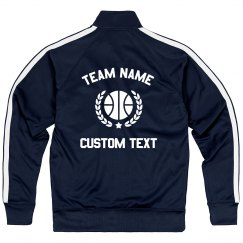 Custom Basketball Team Sporty Zip Jacket