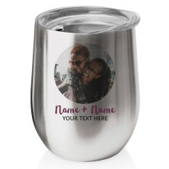 Custom Names Photo Wine Tumbler