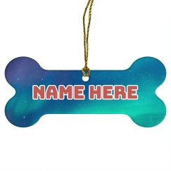 Name Here Space Pet Ornament