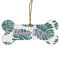 Custom Name Monstera Ornament