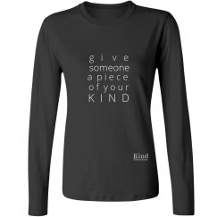 Give a Piece of Mind ladies long sleeve tee