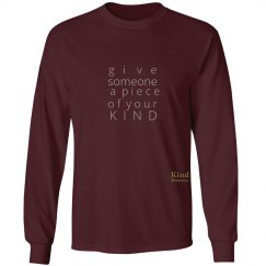 Give a Piece of Mind unisex/mens long sleeve tee