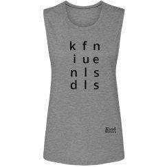 Kindfullness ladies muscle tank
