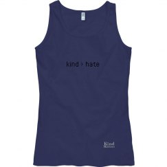 Kind greater than Hate ladies flowy tank