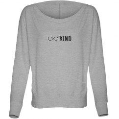 Kind infinity ladies flowy long sleeve tee