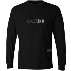 Kind infinity unisex/mens long sleeve tee