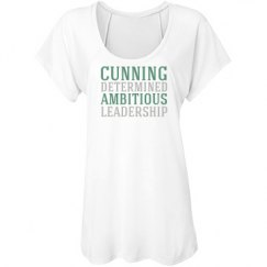 Cunning, Determined, Ambitious, Leadership