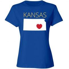 I Heart Kansas State Pride Tees