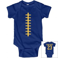 Funny Lil' Football Fan Custom Name Number Baby Onesie