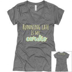 Running Late Tee grey