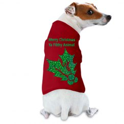 Kiss My @$$ Christmas Dog Shirt