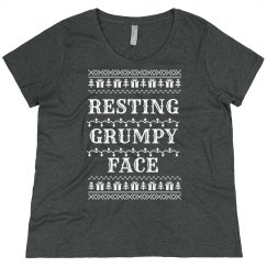 Resting Grumpy Face Plus Pullover