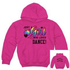 Hot pink rainbow hoodie