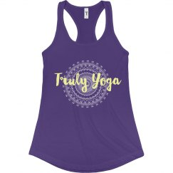 Truly Yoga Racerback Tank (Purple/ Yellow)