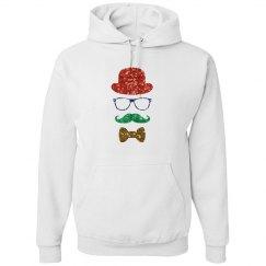 glitter christmas hipster