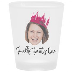 Fun Birthday Photo Shot Glass