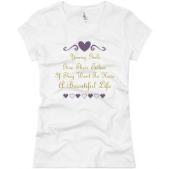 Beautiful Girls Give Tithes Too Junior Tee