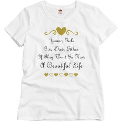 Beautiful Girls Give Tithes Too - Misses Tee