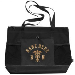 Custom Metallic Nurse Bag Add Name