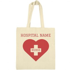Custom Nurse Heart Tote Bag