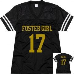 Foster Girl Black Football Jersey 1