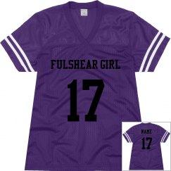 Foster Girl Purple Football Jersey 1