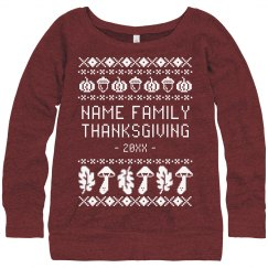 Custom Family Thanksgiving Ugly Sweater