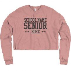 Custom School Name Senior Sweatshirt