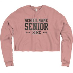 Custom School Name Senior Sweatshirt