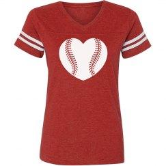 Vintage Baseball Heart Tee