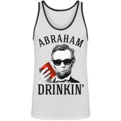 abraham lincoln drinkin' fashion unisex tank top