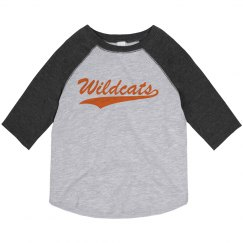 Toddler Wildcats baseball tee