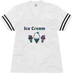 Ice Cream Black Glitter Text