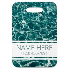 Custom Beach Vacation Bag Tag