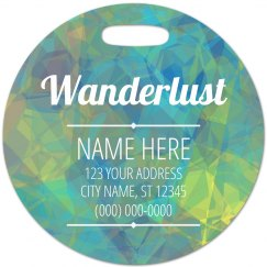 Custom Wanderlust Luggage Gift