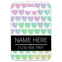 Pastel Hearts Luggage Tag Gift