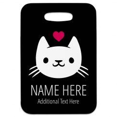 I Love Cats Custom Travel Tag
